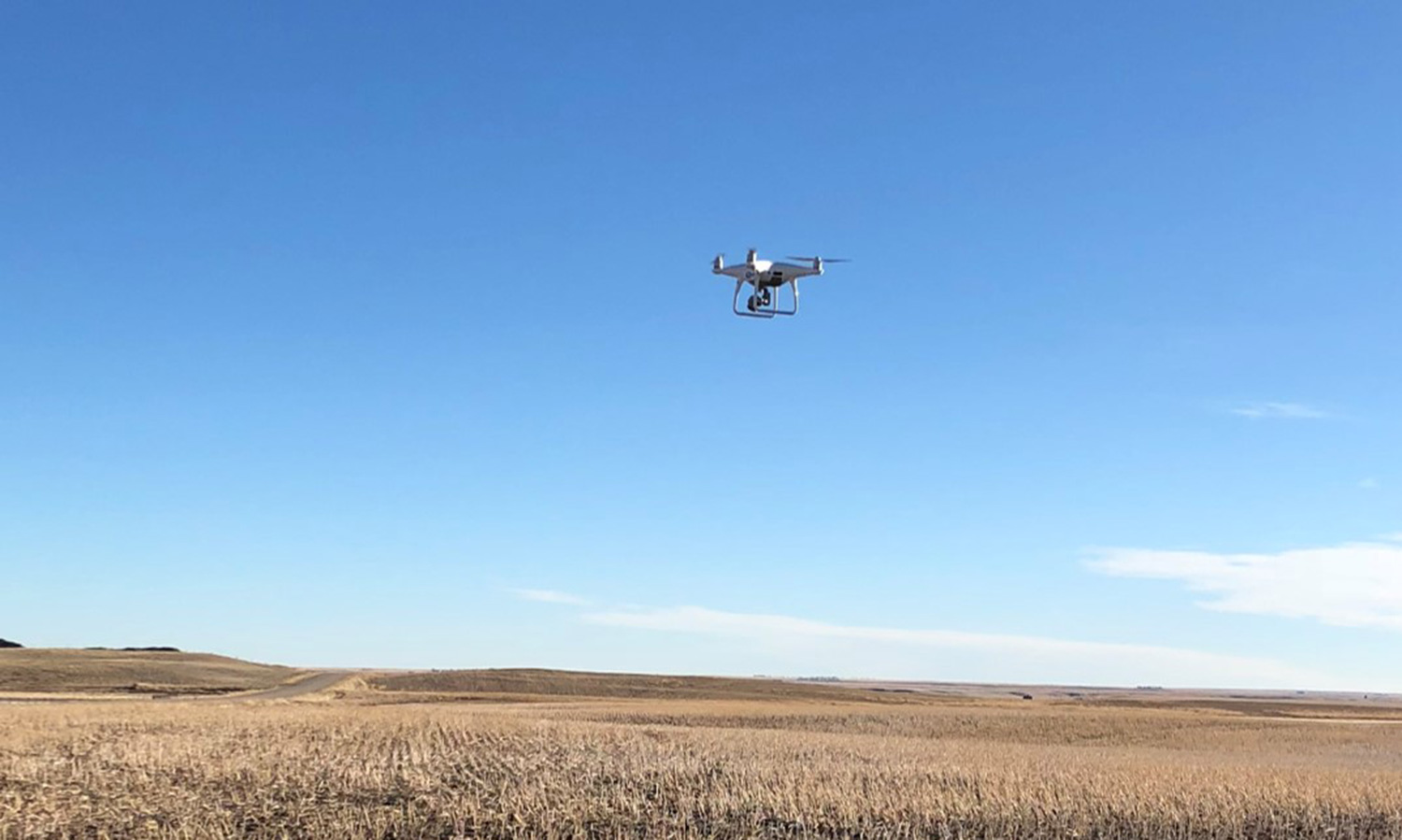 Image of UAV or drone in flight Quest UAV mapping services